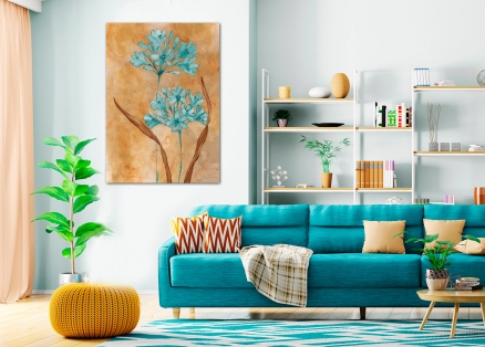 Cuadro flores azules (bgca4695)