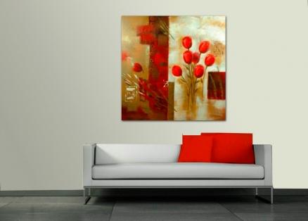Cuadro flores rojas (bib10130118)