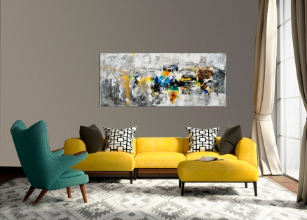 Cuadro abstracto vintage (bjlp001)