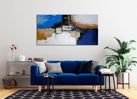 Cuadro abstracto azules (bjlp0103)