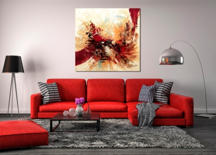 Cuadro abstracto rojo (bjlp0104)