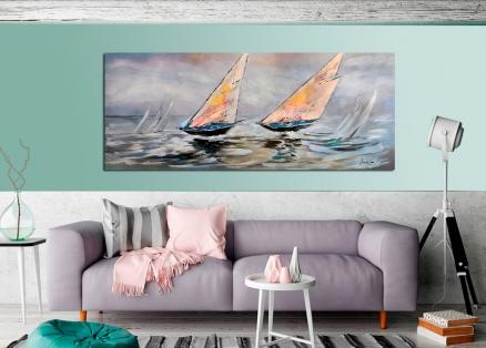 Cuadro barcos navegando (bjlp0106)
