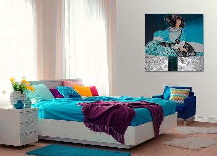 Cuadro Menina azul (bjlp018)