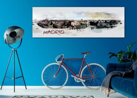 Cuadro Madrid panoramico (bjlp051)