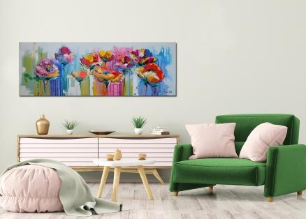Cuadro flores moderno (bjlp085)