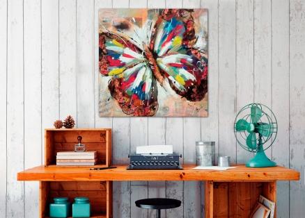 Cuadro mariposa color (bjpd9800)