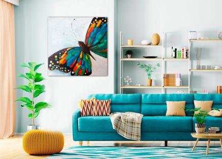 Cuadro mariposa azul (bjpd9840)