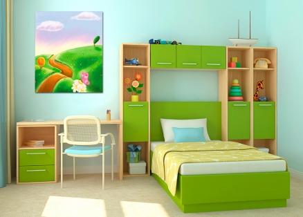 Cuadro infantil primavera (bme021401)