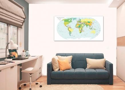 Cuadro mapa mundi (bme084021)