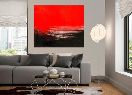 Cuadro abstracto rojo (bme088011)