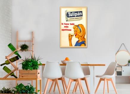 Cuadro publicidad tulipan (bme160072)