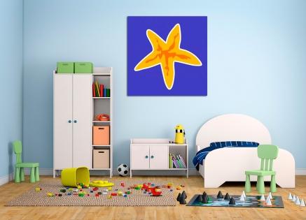 Cuadro estrella de mar infantil (bme160104)