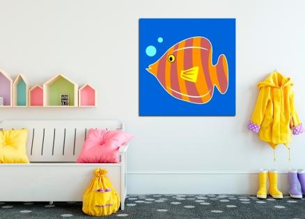 Cuadro infantil pez (bme160105)