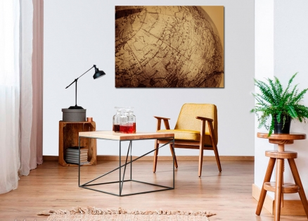 Cuadro globo terraqueo antiguo (bme160184)