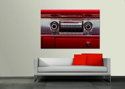 Cuadro salpicadero coche radio antigua (bme170134)