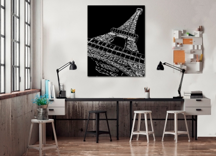 Cuadro Torre Eiffel fondo negro (bme170315)