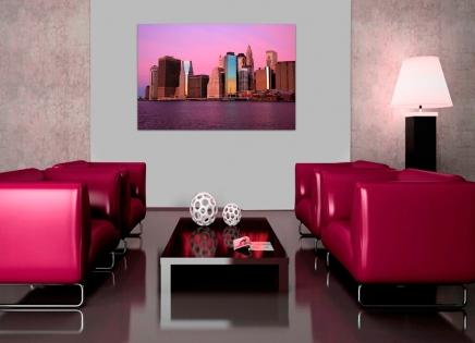 Cuadro New York rosado (bme180025)