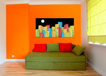Cuadro edificios colores (bme190062)