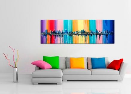 Cuadro Nueva York multicolor (bpmv200)