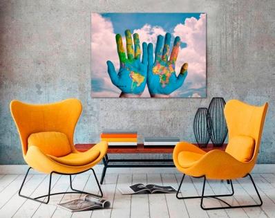Cuadro el mundo en nuestras manos (bpx0031)