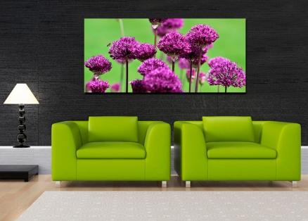 Cuadro flores en morado (bpx0103)