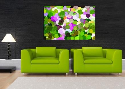 Cuadro mosaico flores (bpx0121)