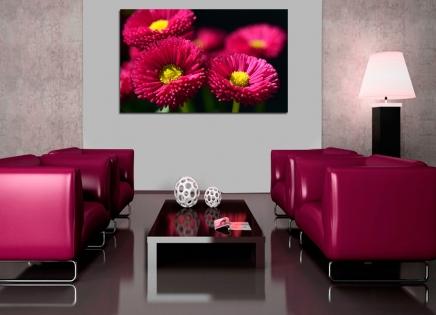 Cuadro flores fucsia (bpx0133)