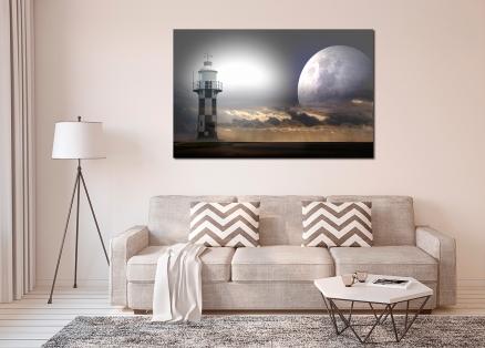 Cuadro luna y faro (bpx0350)