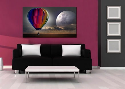 Cuadro globo y luna (bpx0351)