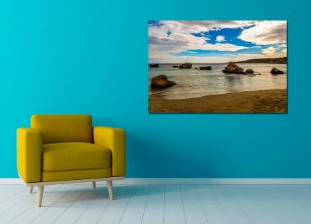 Cuadro playa arena y rocas (bpx0388)