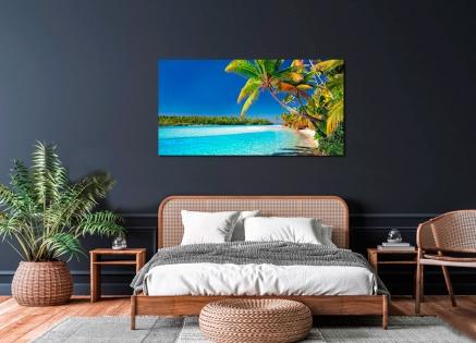 Cuadro paisaje playa paradisiaca (bpx0399)
