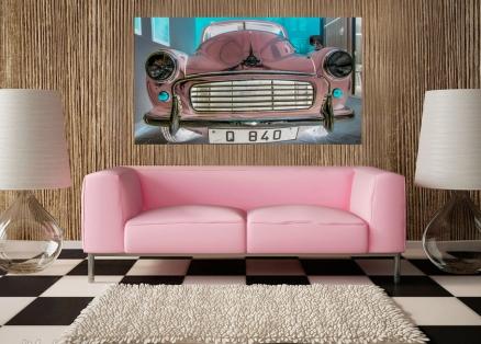 Cuadro coche rosa (bpx0423)