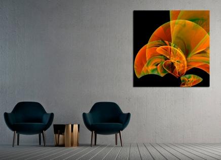 Cuadro abstracto naranja (bpx0607)
