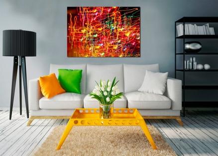 Cuadro abstracto luces neon (bpx0624)