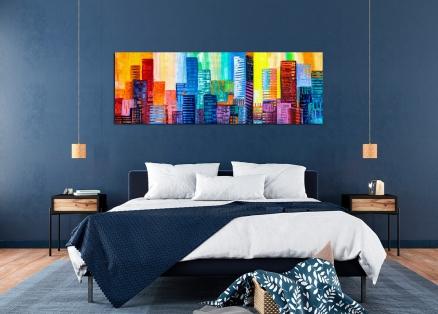 Cuadro edificios de colores (bfl300161102)