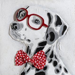 Cuadro perro con gafas (b114)