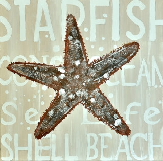 Cuadro estrella de mar (b118)