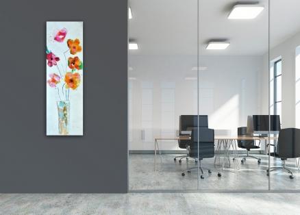 Cuadro flores vertical (b127)