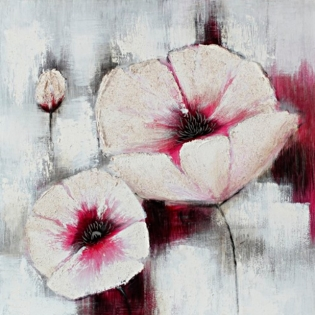 Cuadro flores blancas (b144)