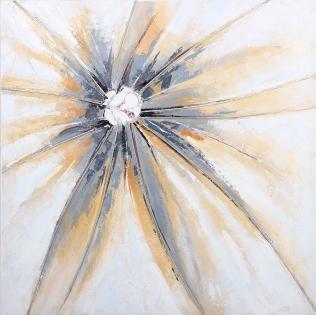 Cuadro abstracto destello gris (b1702)