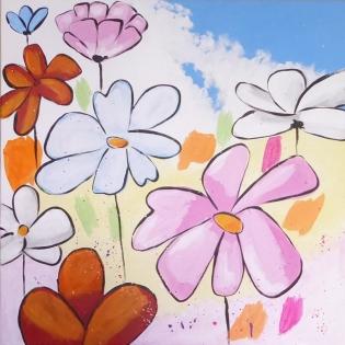 Cuadro flores juveniles (b263)