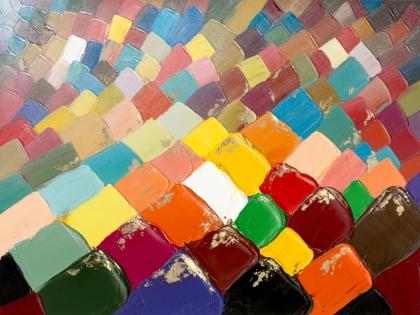 Cuadro tejas de colores (b73)