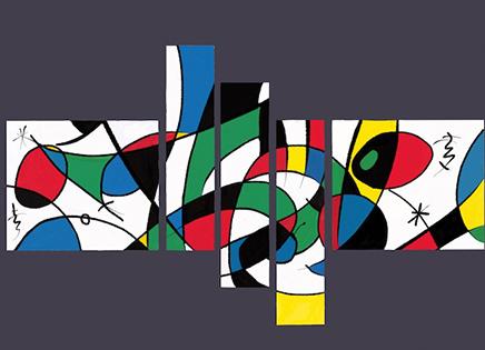 Cuadro multifomas colores 5 piezas (bacb2022)