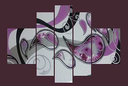 Cuadro multiformas rosa 5 piezas (bacb2023)
