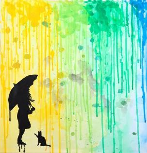 Cuadro lluvia de colores (bci1126)
