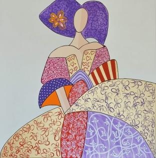 Cuadro Menina dama 5 (bci1005)