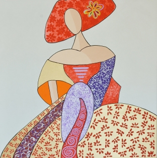 Cuadro Menina dama 7 (bci1007)