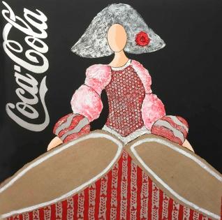 Cuadro Menina Coca-Cola (bci1048)