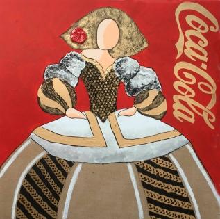 Cuadro menina Coca-Cola roja (bci1049)