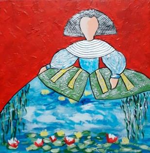 Cuadro Menina Monet (bci1052)